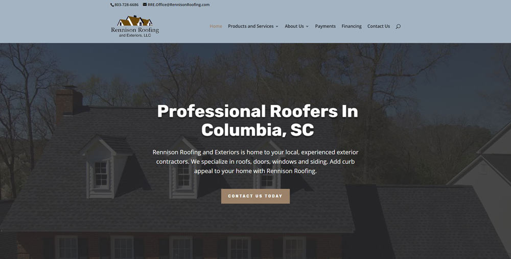 RennisonRoofingWebsiteByCutThroatMarketing