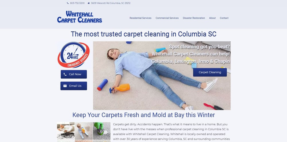 Whitehall Carpet Cleaners Website By Cut Throat Marketing