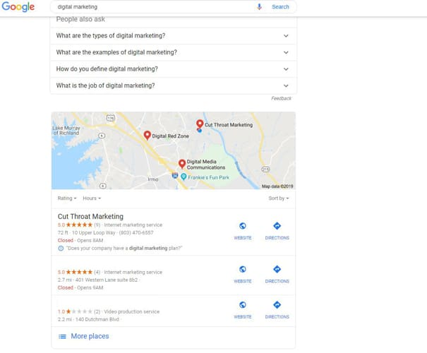 Setting up Google My Business Page